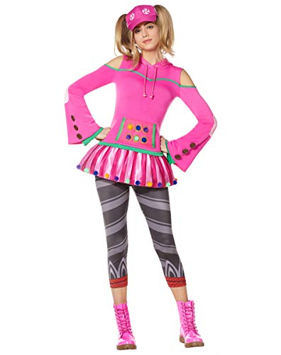Spirit Halloween Adult Zoey Fortnite Costume   Officially Licensed - XS Pink