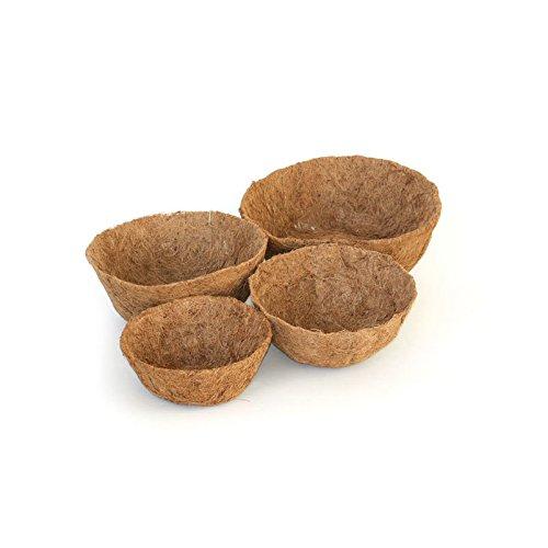 Pflanzen Kölle Kokoseinsatz Ø 30 cm, Kokoseinsatz für Hängekörbe, Einsatz aus Kokosfasern mit integrierter Folie Ø 30 cm