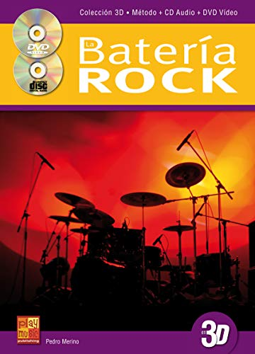 La batería rock en 3D - 1 Libro + 1 CD + 1 DVD