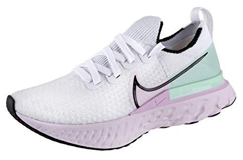 Nike React Infinity Run Flyknit Women's Running Shoe White/Black-ICED Lilac-Pistachio Frost Size 6.5
