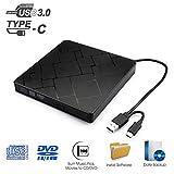Externes CD DVD Laufwerk USB 3.0 MILFECH Tragbar Slim CD/DVD-RW Brenner Mit Typ