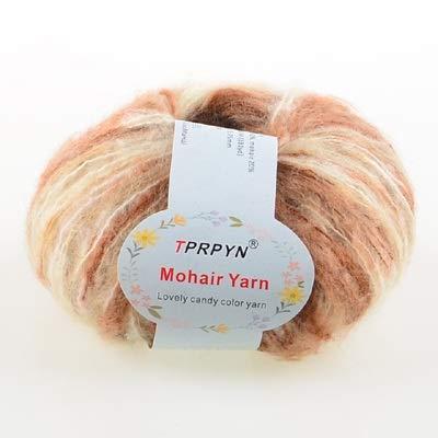 XINSHENG Store Wollpullover mit wollenen Kaschmir Mohairgarn und hochwertigen handgestricktes Gewinde (Farbe : 42 White Khaki)