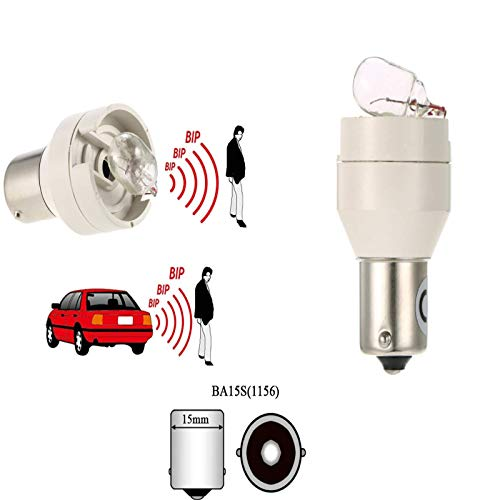 LIZESTRAR 2 bombillas de sonido de pitido P21 W 12 V alarma 12 V luz de marcha atrás para camión