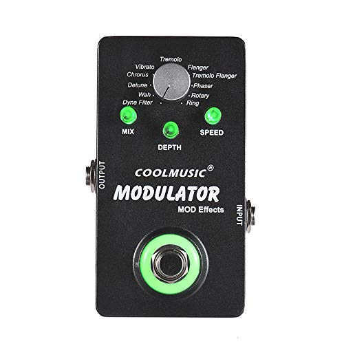 pedkit Guitar Effect Pedal, Electric Guitar Digital Modulator Effect Pedal With 11 Modulation Effects True Bypass Full Metal Shell