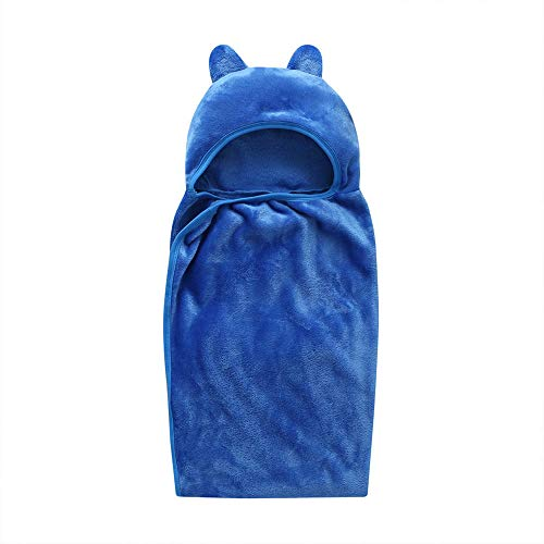 pengpeng Serviettes De Mode Nouveau-né Baby Boys-Filles Solid Hooded Bathrobes Towel Swaddle Bath - Produits De Douche
