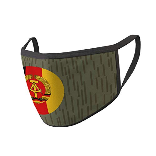 Copytec Mund Maske NVA Strich Tarn National Abzeichen Uniform DDR #35324