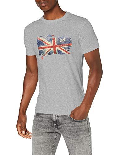 Pepe Jeans Herren T-Shirt Sid, Grey (933GREY MARL), XXL