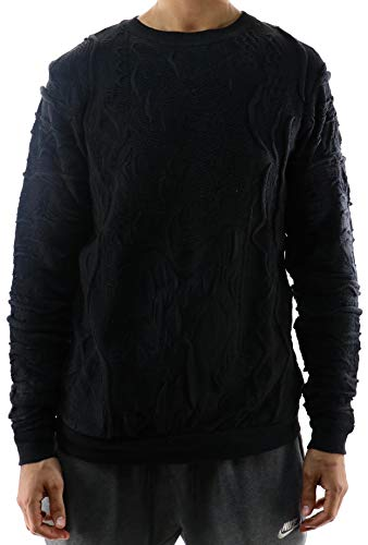 COOGI New Solid Crewneck Sweater Medium Black