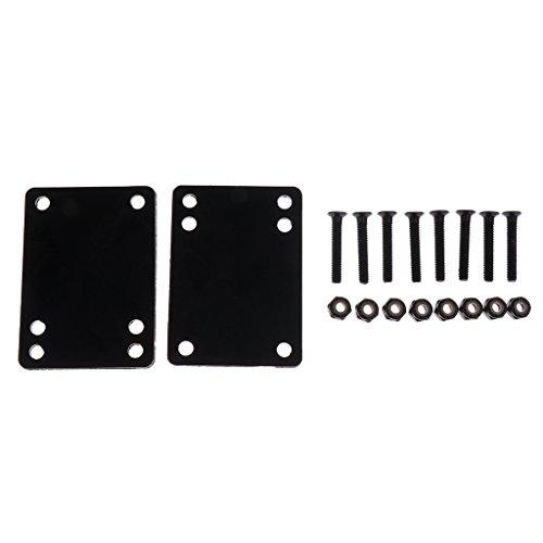 Baoblade Longboard/Skateboard Shockpads/Riser Pads 2pcs-Set - 6mm Pad + 35mm Nagel
