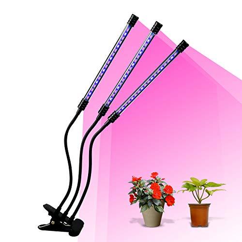 植物育成ライト LED 2019最新型 ライト 育苗ライト 54個LED電球 3本チューブ ライトチューブ調整360°の角度...