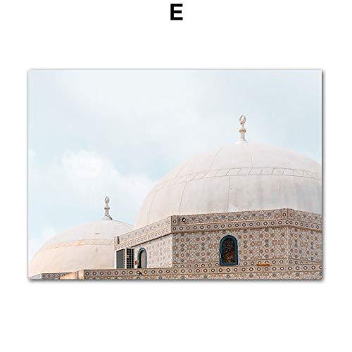 jiushice Kein Rahmen Marokko Tür Taj Mahal Wandkunst Leinwand ng Nordic Poster Und Drucke Klassische Gebäude Wandbilder Für Wohnzimmer Decor30x40cm