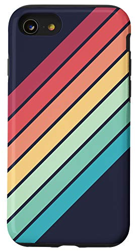 iPhone SE (2020) / 7 / 8 Colorful Rainbow Color 70s Style Retro Stripes Case