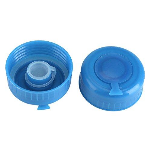 Shanrya Reemplazo de Rosca, Tapas de Botellas de Agua, Tapa de Botella de Agua, Botella de Agua de un galón, 5 Piezas Azul para Botella de Agua de 5,5 cm, Botella de Agua de galón