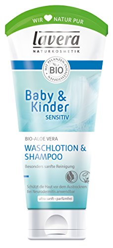 lavera Baby & Kinder Sensitiv Waschlotion & Shampoo, 200ml
