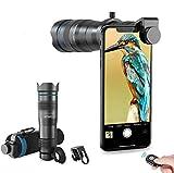 Apexel HD Cell Phone Lens-28X - Teleobjetivo con obturador para iPhone Samsung, Huawei, Xiaomi, teléfono inteligente Android, telescopio monocular