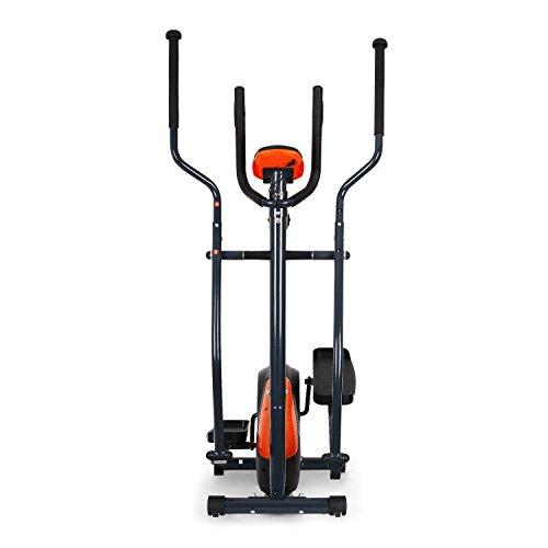 Klarfit Ellifit FX 250 – Nordic Walking Ellipsentrainer, Crosstrainer, Handpulsmesser, Trainingscomputer, 8 Stufen Widerstand, für Personen mit einem Gewicht bis 110kg, schwarz-orange - 2