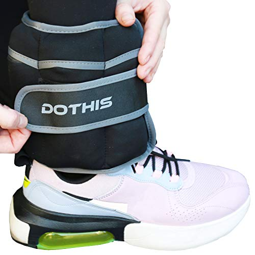Ankle Weights - 10 LBS (5 LBS Each) 1 Pair Adjustable Ankle Weights for Women, Men, Kids, Wrist, Arm, Leg Weight Straps for Exercises, Fitness, Gym, Walking, Workout, Running, Jogging, Aerobics, Physical Therapy