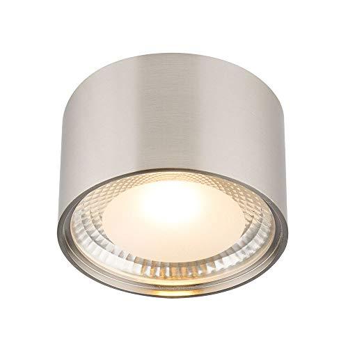 Lámpara LED de techo Serena redonda, 1 LED de 12 W, incluye cristal níquel mate