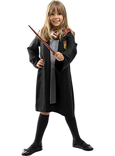 Funidelia   Disfraz de Hermione Granger Oficial para niña Talla 5-6 años ▶ Gryffindor, Magos, Películas & Series, Hogwarts - Color: Gris / Plateado - Licencia: 100% Oficial