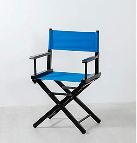 WYJW Executive stoel van massief hout, draagbare outdoor vouwstoel, strandstoel, make-up, hoge kruk (kleur: B) A