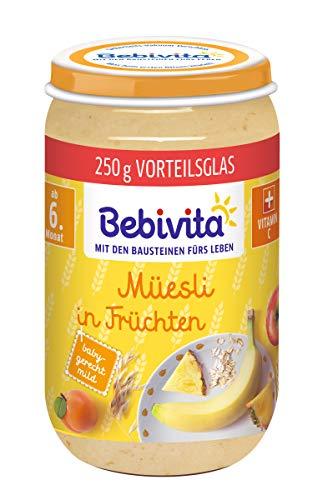 Bebivita Frucht und Getreide Müesli in Früchten, 6er Pack (6 x 250 g)