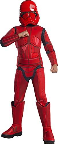 Rubie's, costume ufficiale Disney Star Wars Ep 9, rosso Stormtrooper Deluxe, per bambini, taglia L, età 8-10 anni