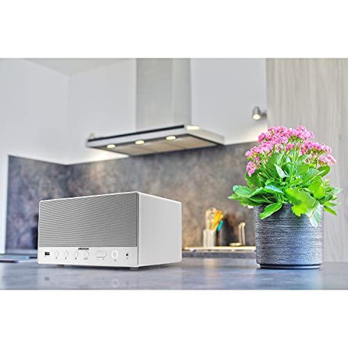 MEDION P61071 Multiroom Lautsprecher (Internetradio (über App),Spotify Connect, WLAN/WiFi, DLNA, USB, AUX, integrierter Subwoofer) weiß