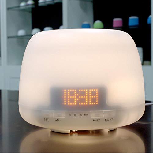 VGFTP Diffusor Luftbefeuchter, Arom EIN Ultraschall-Luftbefeuchter, mit Uhr Ätherisches Öl Diffusor 4 Timer-Einstellung für Car Room Home Office 400 ml
