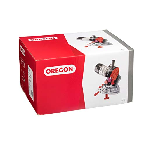 Oregon 410-120 120V Bench/Wall Mounted Saw Chain Grinder, Professional Sharpener for Chainsaw Chains, Sharpens Oregon, Stihl, Husqvarna Chains and More