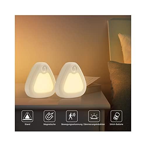 2 Piezas Luz Nocturna LED con Detector de Movimiento 3200K (Blanco...