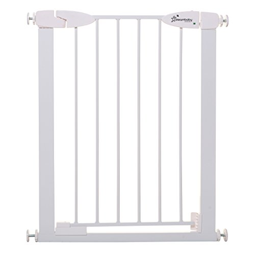 Dreambaby Boston Magnetic Auto Close Security Gate w/Stay Open Feature (24-26.5 inches, White)