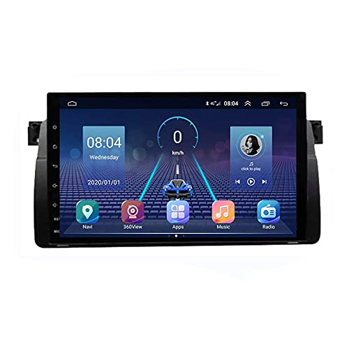 HBWZ Android 10.0 Radio Estéreo 2 DIN para B-MW Serie 3 E46 1999-2005 Navegación GPS IPS Pantalla táctil Reproductor Multimedia...