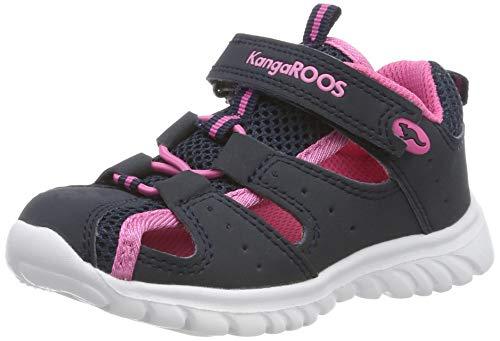 KangaROOS Unisex Baby Rock lite Sandalen, Blau (Dk Navy/Daisy Pink 4204), 21 EU