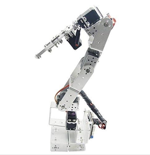 Plata rot3u 6DOF aluminio robot mecánico brazo robótico Clamp Pinza para para Arduino