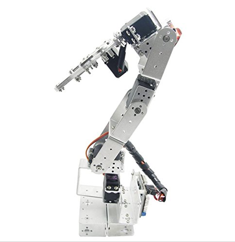 diymore Silver ROT3U 6DOF Aluminium Robot Arm Mechanical Robotic Clamp Claw Kit without Servos for Arduino