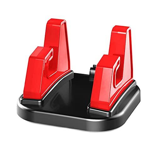 WEFH Soporte de escritorio de silicona para teléfono fijo giratorio de 360 grados, color rojo