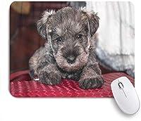 ZOMOY マウスパッド 個性的 おしゃれ 柔軟 かわいい ゴム製裏面 ゲーミングマウスパッド PC ノートパソコン オフィス用 デスクマット 滑り止め 耐久性が良い おもしろいパターン (かわいい動物愛らしいミニシュナウザー子犬ひげの可愛さ)