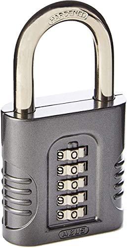 ABUS 158/65 Zahlenschloss, individuell einstellbarer 5-stelliger Zahlencode, Robustes Zinkdruckguss