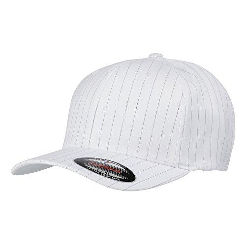 Yupoong - Casquette de Baseball rayées - Adulte Unisexe (L/XL) (Blanc/Noir)