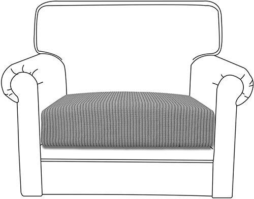 Yidaxing Sofa Sitzkissenbezug High Stretch Sitzkissenschutz Elastischer Kissenbezüge Husse Überzug Bezug für Sofa Sitzkissen (1 Sitzer, Hellgrau)