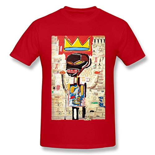 PerterOne Jean Michel Basquiat Herren Basic Kurzarm T-Shirt Bunter Druck Grafik T-Shirts Rundhals-T-Shirt
