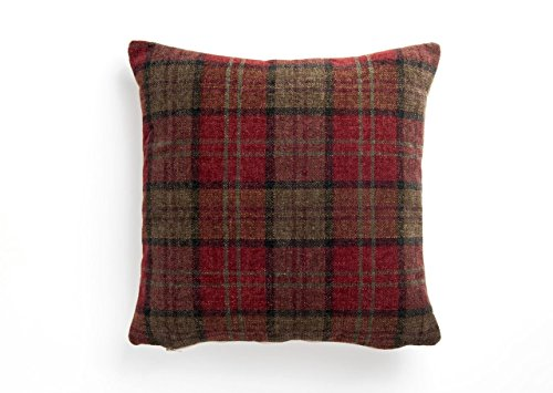Deep Red Highland Croft Check Cushion Cover