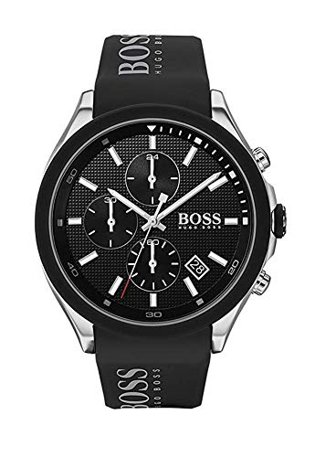 Hugo Boss Herren Chronograph Quartz Uhr mit Silikon Armband 1513716