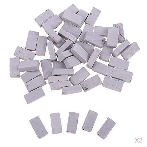 KESOTO 150 STK 1//16 Miniatur Backstein Ziegelsteine Dachziegel Modell f/ür Modellbau