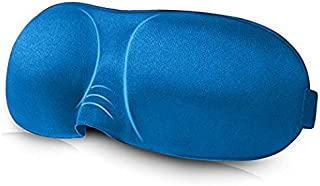 3D Contoured Eye Mask - Super Lightweight, Comfortable and Soft Sleeping Mask - Blue