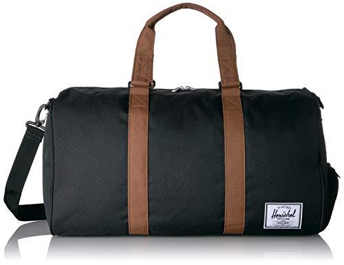 Herschel Novel Duffel Bag, Black/Saddle Brown, Mid-Volume 33.0L
