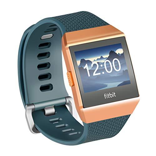 Fotover Ersatzarmband Kompatibel mit Ionic,Einstellbar Atmungsaktiv Weiches TPU-Uhrenarmband Ersatzband for Ionic Fitness Smartwatch mit Ionic Schutzfolie,Darkcyan(L)