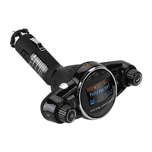 XIXIDIAN Audio de automóvil, Transmisor USB FM de Bluetooth, Adaptador de Audio de Coche de Manos Libres inalámbrico Player MP3 Port Port Cargador de automóvil con Pantalla LED