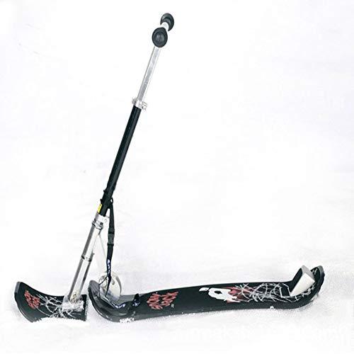 WEIFIY Schlitten Ski Skooter Falten-Up Snowboard Kick-Scooter Für Den Einsatz Auf Schnee Und Gras Jugend/Erwachsene Compact Schnee-Tritt-Ski Skoote