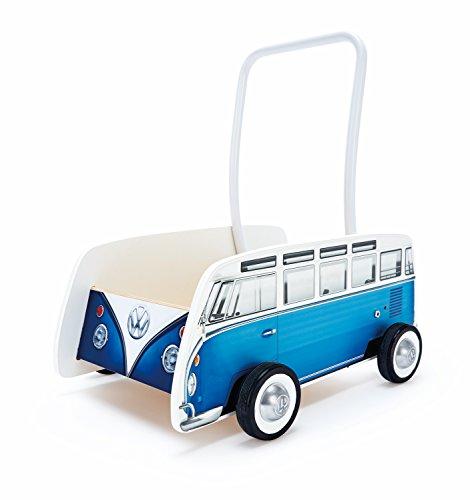 Hape- Andador bebé Furgoneta Volkswagen, Color Azul (Barrutoys E0381)